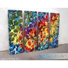 Image of  4 Panel Splashy Rainbow Custom ART FREE SHIPPING