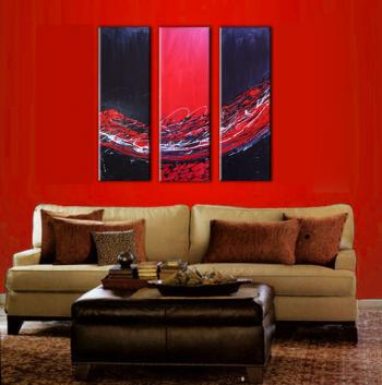 Image of Sale 3 infinity Ruby Sunset Abstract Paintings Art