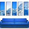 Image of 5 Blue Success Paintings - Original Art - Free Shipping