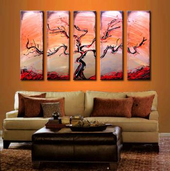 Image of Best Seller! - 14k Gold - 5 Bronze Cherry Espresso Tree Sunset